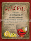 SAZERAC  COCKTAIL RETRO BAR: CAFE:HOME BAR:METAL SIGN :3 SIZES TO CHOOSE FROM