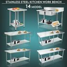 #430 Stainless Steel Kitchen Work Bench Top Food Grade Catering Prep Table