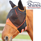 Shires Fine Mesh Fly Mask with Ears - Black/Orange