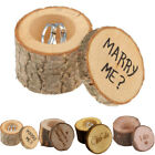 Внешний вид - Wedding Ring Box Holder Shabby Chic Rustic Wooden Bearer Box Valentines Day Gift