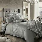 Kylie Minogue Bedding Cadence  Silver Grey Duvet Cover Throw Cushion Curtains
