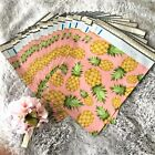 100 Cute Pink Pineapple Designer Poly Mailers, Plastic Envelopes Shipping Bag