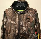 New Under Armour Youth Hoodie Boy's Hooded Sweatshirt Realtree Camo Sz YXL Loose