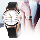Women's Colorful Leather Band Stainless Steel Watch Analog Quartz Wrist Watches image