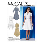 McCall's 7351 Sewing Pattern to MAKE Misses' Shirtdresses with Pockets and Belt