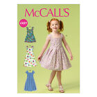 McCall's 6878 Easy Sewing Pattern to MAKE Girls' Dresses with Variations