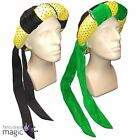 Adult Medieval Tudor Arabian Prince Fancy Dress Costume Accessory Sequin Bun Hat