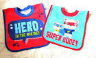 Cute 2 Pk Baby Boy Bibs 4 Mths +  New
