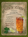DARK & STORMY  COCKTAIL:RETRO STYLE :HOME BAR:METAL SIGN :3 SIZES TO CHOOSE FROM