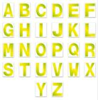 Alphabet CAPITAL Letters Stickers Self Adhesive PERMANENT A-Z White Black 3