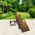 Billyoh Rosario Rattan Recliner Sun Lounger Garden Furniture With Side Table