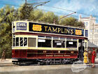 BRIGHTON  VINTAGE TROLLEY BUS ORIGINAL PAINTING METAL SIGN: CHOOSE YOUR OWN SIZE