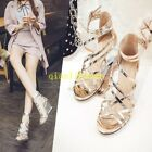 Women Gladiator Wedge Platform High Hollow out Ankle Strap Buckle Sandals Shoes