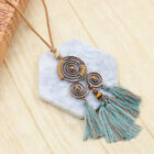 Bohemia Long Tassel Women's Necklaces Long Leather Chain Sweater Chain Ethnic