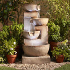 3 / 4 Tier Water Feature Cascading LED Laguna Garden Patio Ornament NEW Serenity