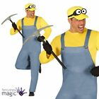 Adults Mens Miner Dave Despicable Worker Fancy Dress Costume Stag Movie Outfit