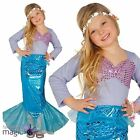 Girls Little Mermaid Princess Book Week Fancy Dress Costume Tail Skirt Outfit