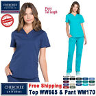 Cherokee Scrubs Set PROFESSIONAL Women's V-Neck Top  Cargo Pant WW665/WW170