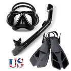 dry snorkel - US Adult Swimming Scuba Goggles Glasses Diving Mask Fins Dry Snorkeling Gear Set
