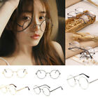 Unisex Vintage Retro Round Circle Mirror Lens Glasses Eyewear Eyeglasses