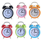 Silent Double Twin Bell Metal Alarm Clock Snooze Table Desk Bedside Clock 3""