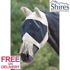 Shires Fine Mesh Fly Veil with Ears,Nose and Fly Fringe
