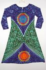 Women's TIE DYE Earth Sun Long Sleeve Dress hippie boho gypsy sm med lg xl 2X 3X