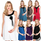 New Maternity Dress Loose Tunic Top Party Pregnancy Mini Sleeveless Stretch