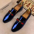 Men Slip On Loafer Patent Leather Pointy Toe Nightclub new Business Shoes Bee Sz