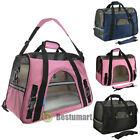 Pet Carrier Soft Sided Large Cat Dog Comfort Rose Wine Black Bag Travel Approved
