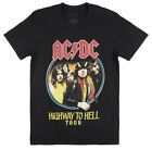 ACDC HIGHWAY TO HELL TOUR T-SHIRT MENS ROCK MUSIC METAL ALBUM TEE BLACK image