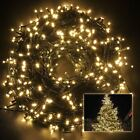 300 LED Mains Plug In String Fairy Lights 8 Functions Garden Xmas Tree Outdoor