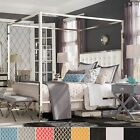 Solivita Queen-size Chrome Metal Poster Bed by iNSPIRE Q Bol