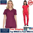 Внешний вид - Cherokee Scrubs Set ORIGINAL Medical Uniform V-Neck Top Cargo Pant(WW645/WW210)