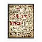 framed kitchen cabinets - Kitchen Spices Typography Framed Giclee Texturized Art