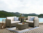 3 Or 4 Piece Pe Rattan Garden Furniture Outdoor Set With Cover Option