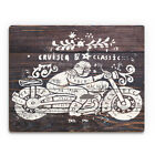 Cruiser Classic Brown/White Wood Contemporary Wall Art