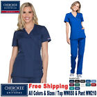 Kyпить Cherokee Scrub Set New Original Medical Uniform Mock Wrap TOP & Cargo Pant  на еВаy.соm