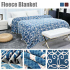 100% Microfiber Plush Floral Paint Fleece Bed Blanket Twin Full Queen Warm Value image