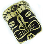 Large Hawaii Tiki Ghost Mens Gold Plated Heavy Ring
