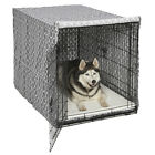 Dog Crate Cover High Quality Quiet Time Private Secure Comfort Cool Grey Pattern