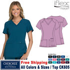 Cherokee Scrubs IFLEX Women's Medical V-Neck Knit Panel Top CK605