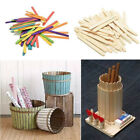 Wooden Lollipop Sticks Lolly Natural Craft Crafts Lollies Ice Pops Kids Coloured