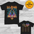 Def Leppard & Journey Tour Dates 2018 T-shirt Men's Black size S - 2XL