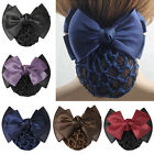 Women Pro Bow Barrette Hair Clip Cover Bowknot Bun Snood Hai