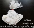 minifridge price - Blank White Merchandise Price Tags w/ String Retail Jewelry Strung Large Small