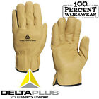 Delta Plus Cowhide Leather Water Repellent Safety Work Gloves Top Quality Tough
