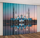 3D Blockout City at Night Natural 2 Panels Curtain Drapes Fabric Window Mural