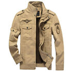 Army Style Designer Men's Cotton Slim Zip Military Jacket Air Force jacket Coat