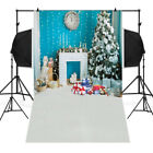 2018 Christmas Backdrops Tree  3x5FT Fireplace Background Photography 90x150cm